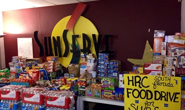 HRC Food Drive for SunServe