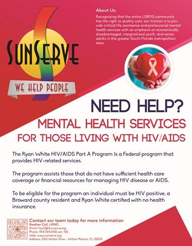 Sunserve Ryan White Mental Health Program